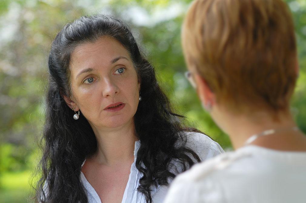 Natascha Reiss im Coaching Gespräch mit Klientin